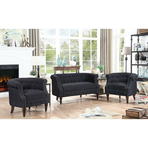 Kelty 3 Piece Living Room Set By Alcott Hill