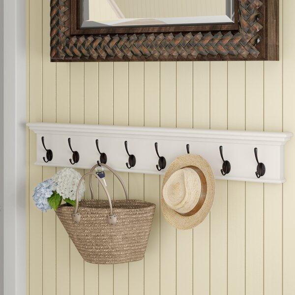 Amityville 8 Hook Coat Rack by Beachcrest Home