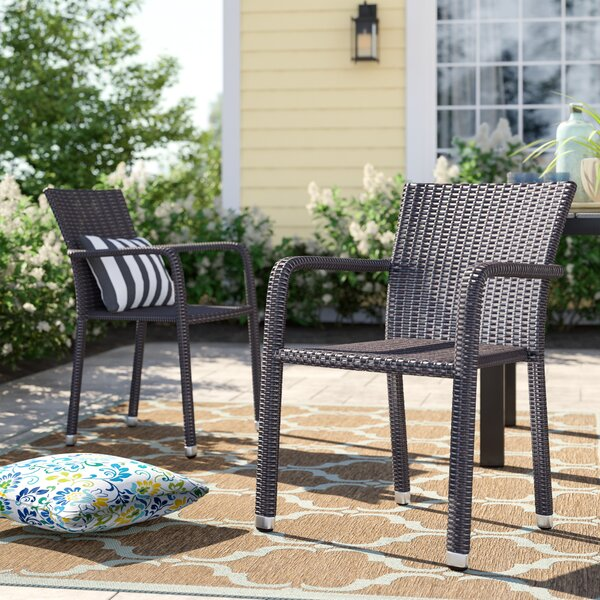 Blakely Stacking Patio Dining Chair (Set Of 2) By Sol 72 Outdoor by Sol 72 Outdoor Read Reviews