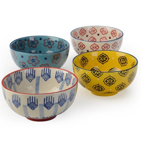 Fernada 4 Piece 23 oz. Rice Bowl Set by World Menagerie