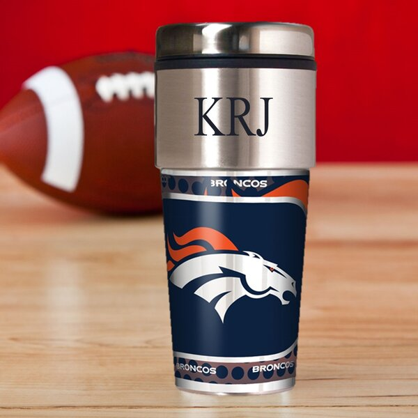 Personalized Broncos Travel Mug by JDS Personalized Gifts