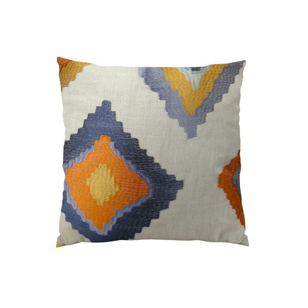 Native Trail Cayenne Handmade Linen Throw Pillow by Plutus Brands