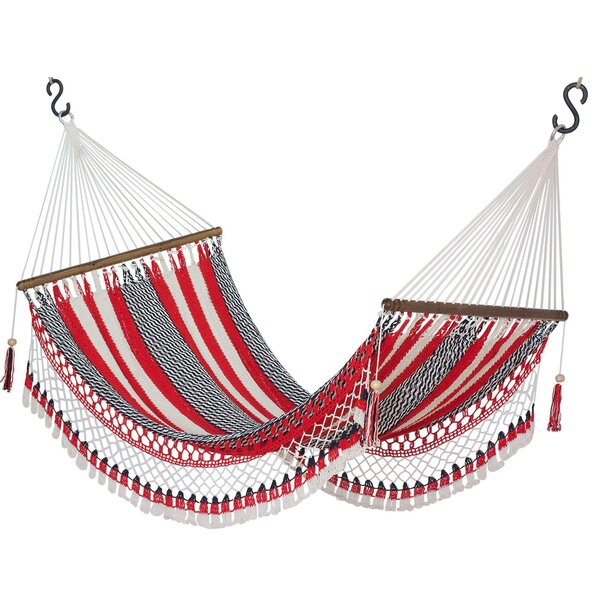 Kaeden Celebration and Relaxation Cotton Rope Camping Hammock by Bloomsbury Market