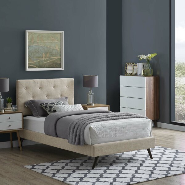 Perrinton Upholstered Platform Bed by Ebern Designs
