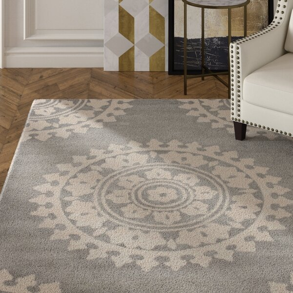 Hawley Hand-Woven Gray Area Rug by House of Hampton