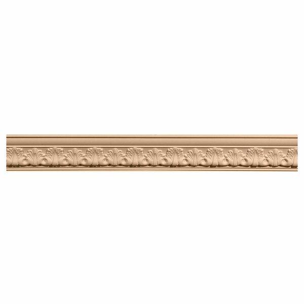 Acanthus 2 1/8H x 96W x 2 3/8D Leaf Carved Wood Crown Moulding by Ekena Millwork