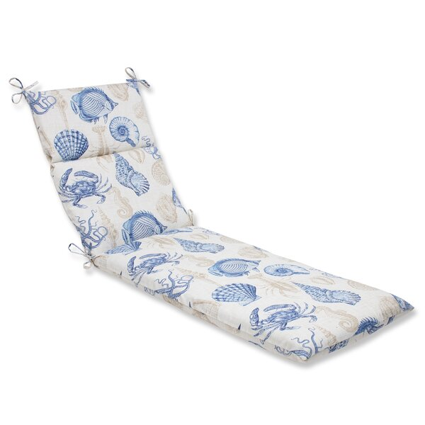 Sealife Indoor/Outdoor Chaise Lounge Cushion by Pillow Perfect