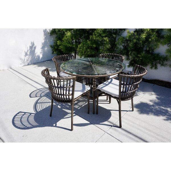 Iconium 5 Piece Dining Set with Cushions Bayou Breeze W003226893