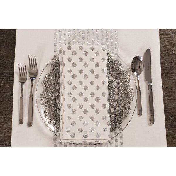Owens Metallic Polka Dot 20 Napkin (Set of 4) by M