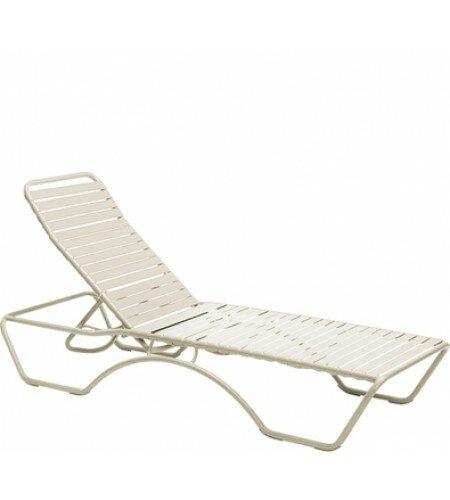 Baja Aluminum Poolside Adjustable Armless Chaise Lounge by Woodard