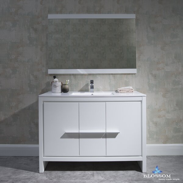 Artemis 47 Single Bathroom Vanity Set with Mirror by Ivy Bronx