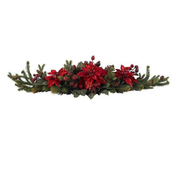 Poinsettia & Berry Centerpiece by The Holiday Aisle
