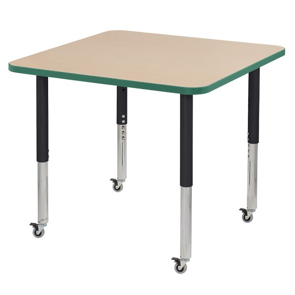 Maple Top T-Mold Adjustable 36 Square Activity Table by ECR4kids