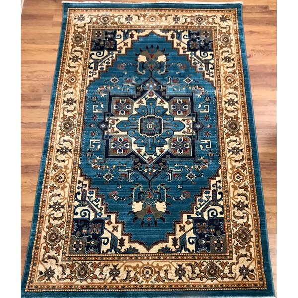 Ridgeway Blue/Ivory Area Rug by Astoria Grand