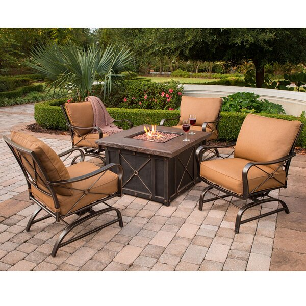 Prado 5 Piece Conversation Set with Cushions by Loon Peak