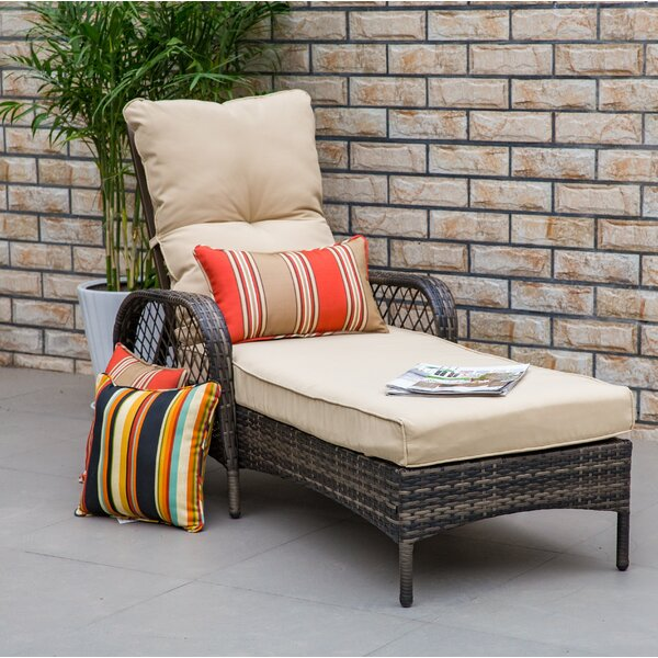 Aldusa Reclining Chaise Lounge With Cushion By Bayou Breeze