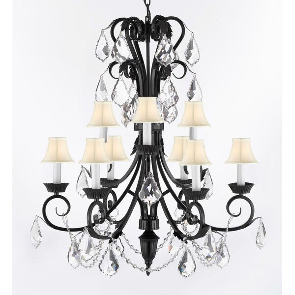 Kendig 9-Light Shaded Tiered Chandelier By House Of Hampton