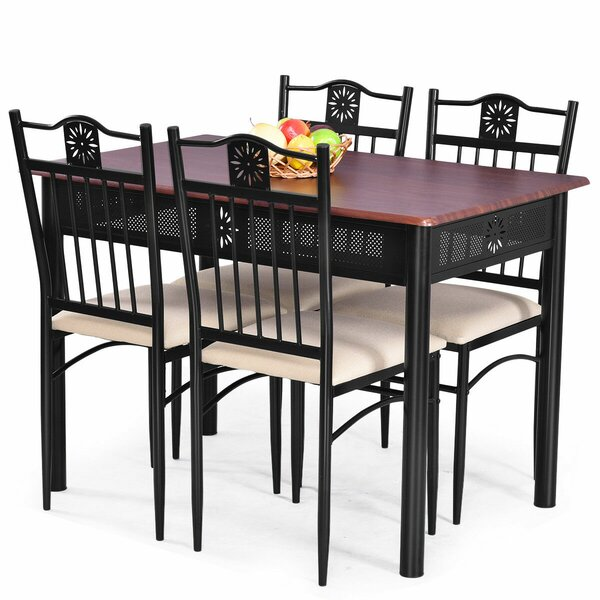 Ganya 5 Piece Dining Set by Winston Porter