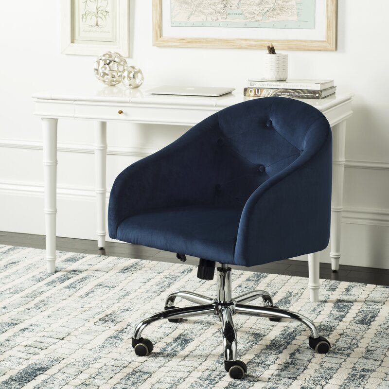 Randall Tufted Swivel Low-Back Desk Chair