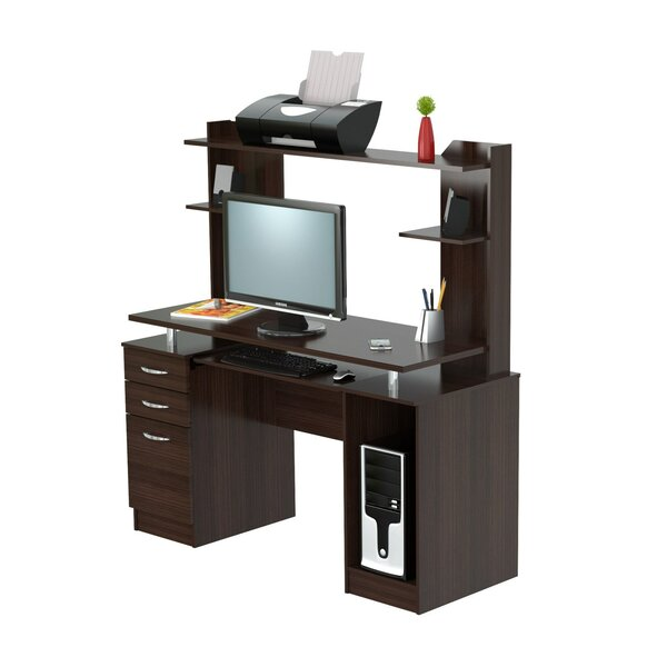 Bengal Work Center Computer Desk with Hutch by Latitude Run