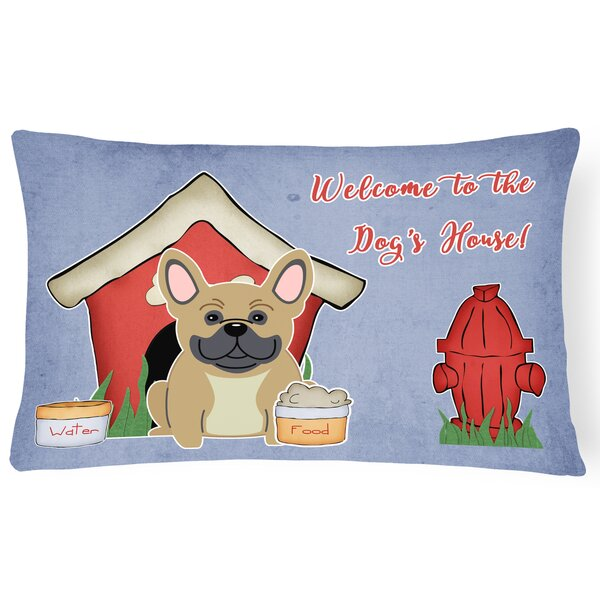 Dog House Contemporary Rectangle Indoor/Outdoor Lumbar Pillow by East Urban Home