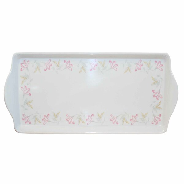 Pink Trio Melamine Rectangular Serving Platter by Corelle