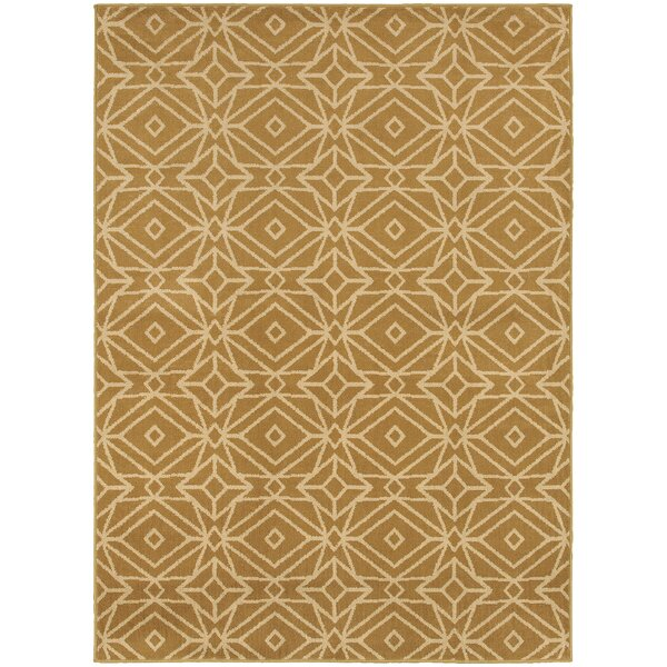 Sheridan Gold/Ivory Area Rug by Threadbind