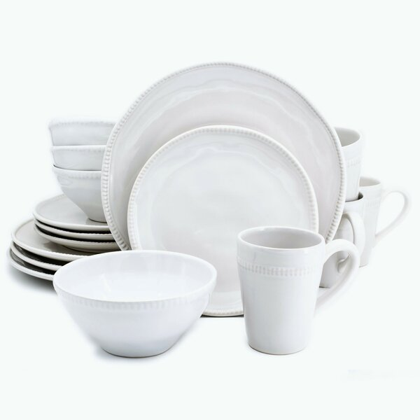 Al Garve 16 Piece Dinnerware Set, Service for 4 by Euro Ceramica