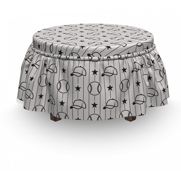 Stars Caps Vertical Lines Ottoman Slipcover (Set Of 2) By East Urban Home