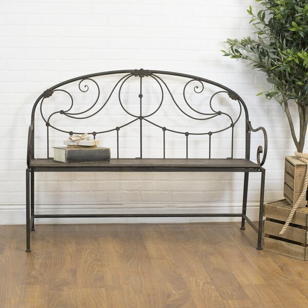 Higuchi Vintage Metal Garden Bench by August Grove