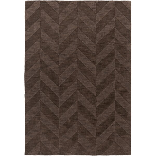 Sunburst Handwoven Wool Brown Area Rug by Greyleigh