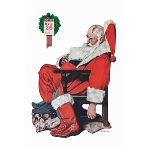 'The Day after Christmas' by Norman Rockwell Graphic Art on Wrapped Canvas