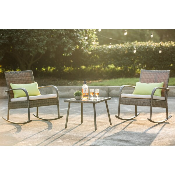 Charterhouse 3 Piece Seating Group with Cushions by Mercury Row