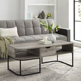 Chaliah Abstract Coffee Table with Storage by Gracie Oaks