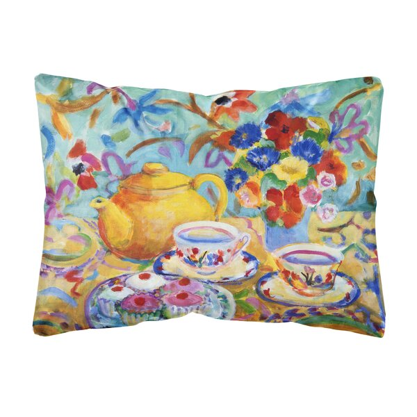 Mejia Tea by Wendy Hoile Fabric Indoor/Outdoor Throw Pillow by Winston Porter