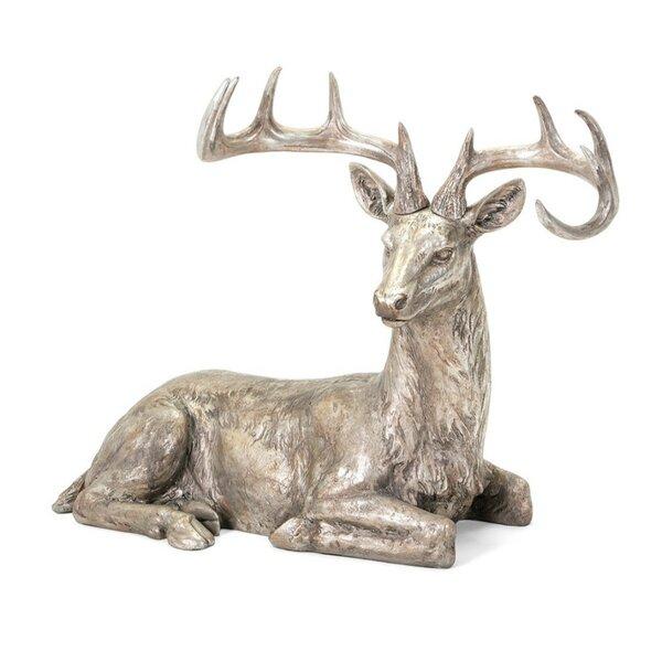 Laying Reindeer Figurine by Loon Peak