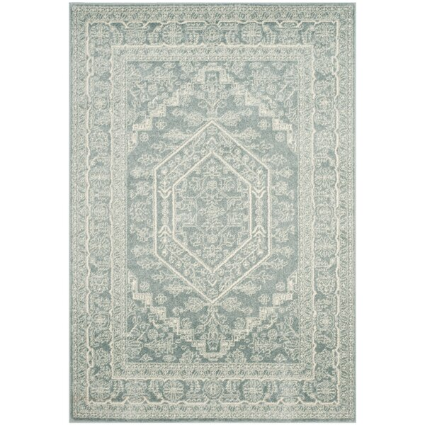 Connie Slate/Ivory Area Rug by Greyleigh