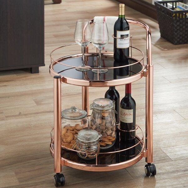 Glenoe Serving Bar Cart by Mercer41 Mercer41
