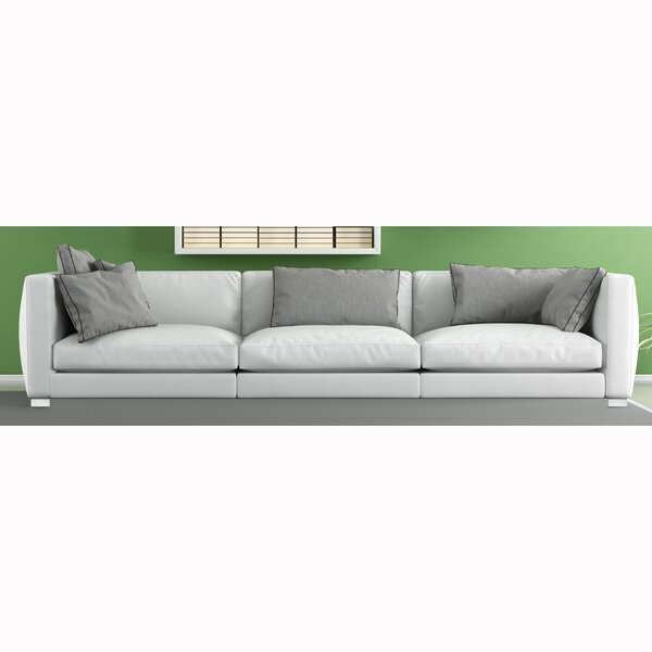 Home & Outdoor Vannesa Top Grain Leather Sofa