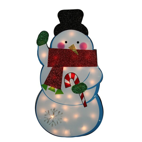 Standing Tinsel Snowman Lighted Christmas Decoration by Northlight Seasonal