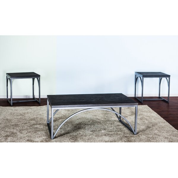 Coomes 3 Piece Occasional Coffee Table Set by Ebern Designs Ebern Designs