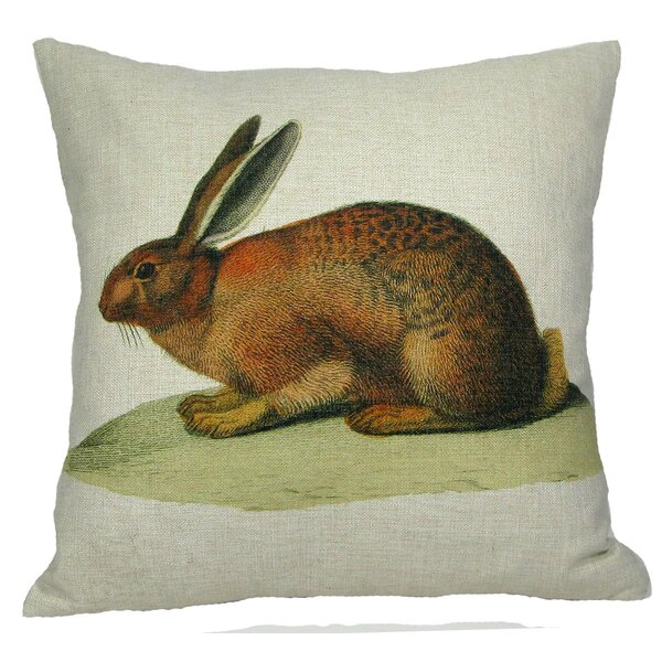 Brown Bunny Pillow Cover by Golden Hill Studio