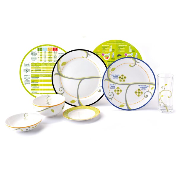Complete Lifestyle Starter Weight Loss System 7 Piece Place Setting by Precise Portions