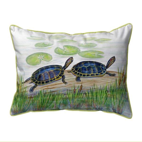 Two Turtles Indoor/Outdoor Lumbar Pillow