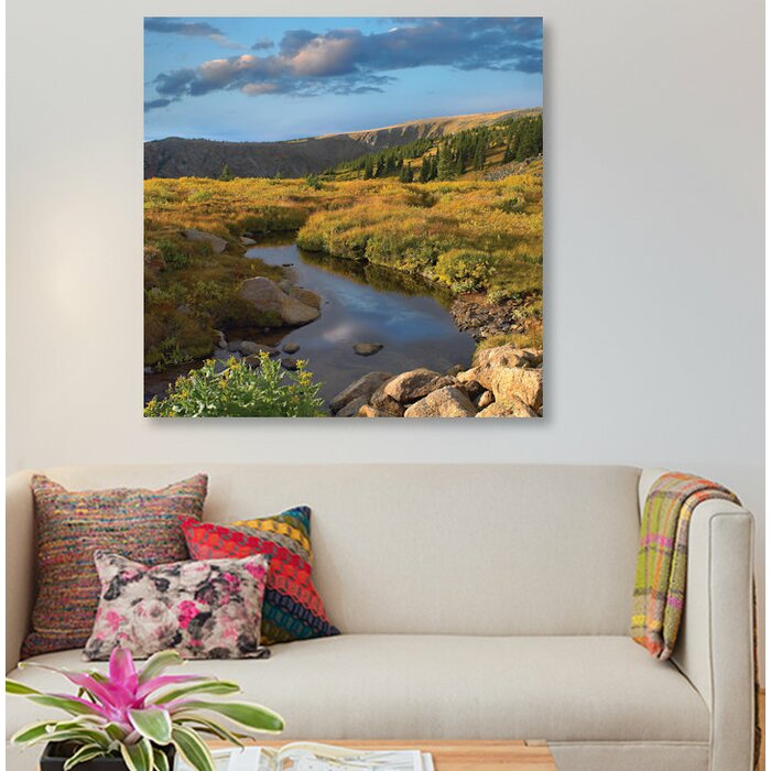 East Urban Home Alpine Stream Rollins Winter Park Colorado Photographic Print On Canvas Wayfair