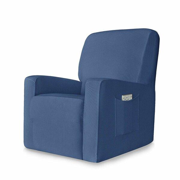 Stretch Jacquard Box Cushion Recliner Slipcover by Latitude Run