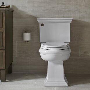 Read Reviews Memoirs Classic Comfort Height 2-Piece Elongated 1.28 GPF Toilet with Aquapiston Flush Technology and Left-Hand Trip Lever, Concealed Trapway ByKohler