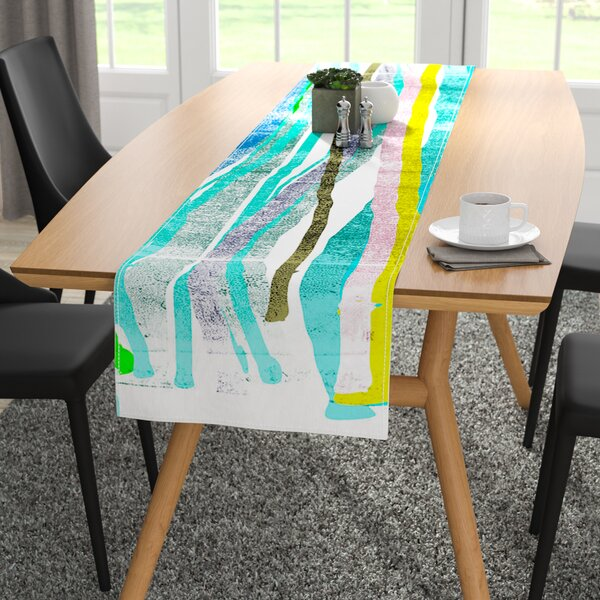 Frederic Levy-Hadida Fancy Stripes Table Runner by East Urban Home