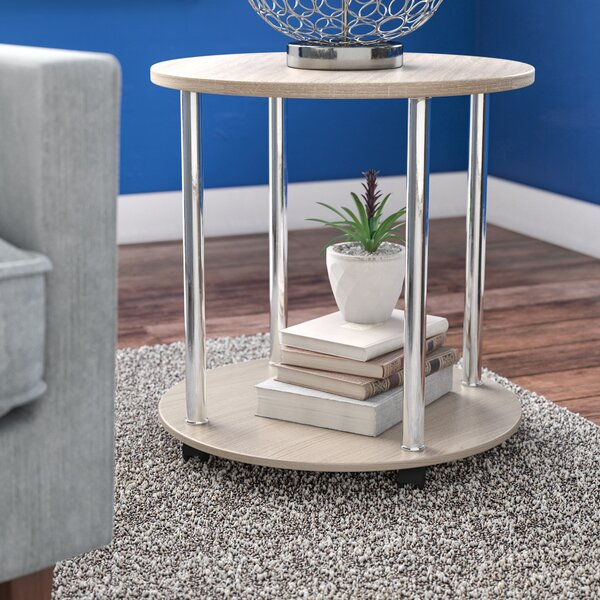 Adelinna 2 Tier Round End Table by Latitude Run