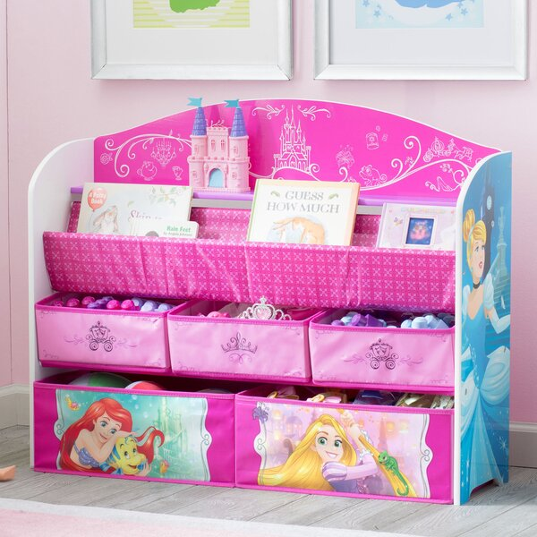 Disney Princess Deluxe Book Toy Organizer By Delta Children.